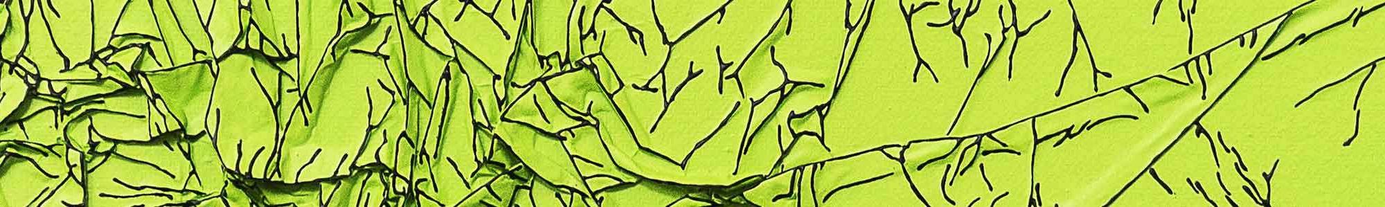 Arbre de vie vert / noir - détail - 30 x 30 cm - technique mixte - © Annie Thérie