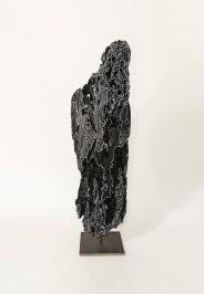N&B n°19 - 67 x 21 x 17 cm - acrylique sur bois flotté - © Annie Thérie