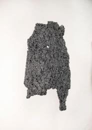 N&B n°28 - 140 x 83 cm - acrylique sur liège - © Annie Thérie