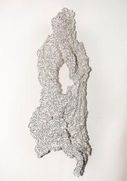 N&B n°30 - 93 x 55 cm - acrylique sur liège - © Annie Thérie