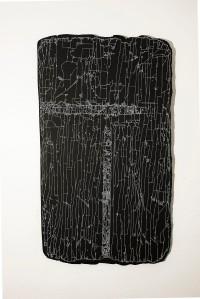 N&B n°44 - 115 x 65 cm - acrylique sur bois flotté - © Annie Thérie