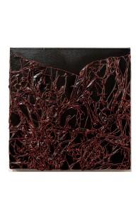 Arbre de vie noir / rouge - 30 x 30 cm - technique mixte - © Annie Thérie