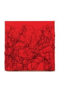 Arbre de vie rouge / noir - 30 x 30cm - technique mixte - © Annie Thérie
