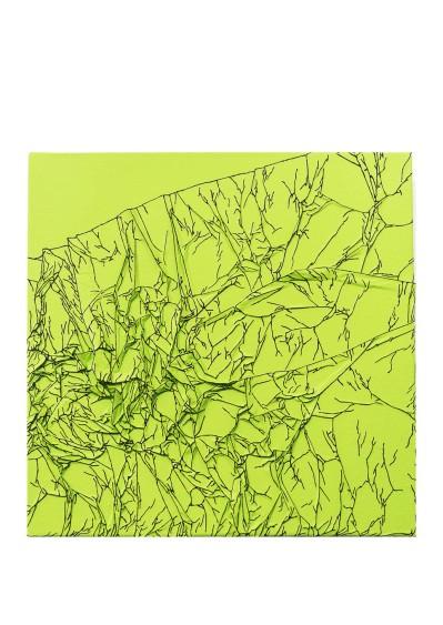Arbre de vie vert / noir - 30 x 30 cm - technique mixte - © Annie Thérie