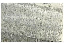 Montées des eaux - Abtey / Therie - 100 x 150 cm - zinc acrylique acide - © Annie Thérie
